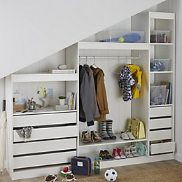 Form Perkin White Hallway Storage Unit Kit (W)2200mm
