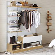 Form Oppen Oak effect Bedroom storage unit (H)2000mm (W)1450mm