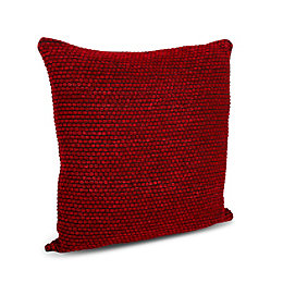 Carpel Plain Dark red Cushion