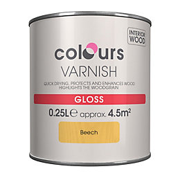 Colours Indoor Beech Gloss Wood varnish 0.25L