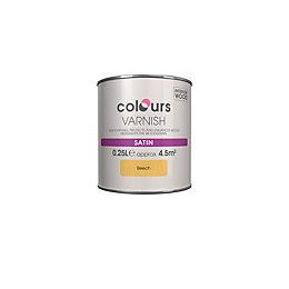 Colours Indoor Beech Satin Wood varnish 0.25L