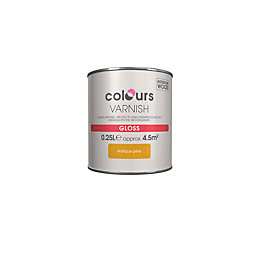 Colours Indoor Antique pine Gloss Wood varnish 0.25L