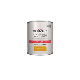 Colours Indoor Antique pine Gloss Wood varnish 0.75L