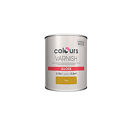 Colours Indoor Oak Gloss Wood varnish 0.75L