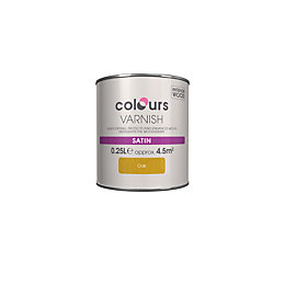 Colours Indoor Oak Satin Wood varnish 0.25L