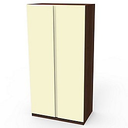 Darwin Cream Walnut Effect 2 Door Wardrobe (H)2004mm
