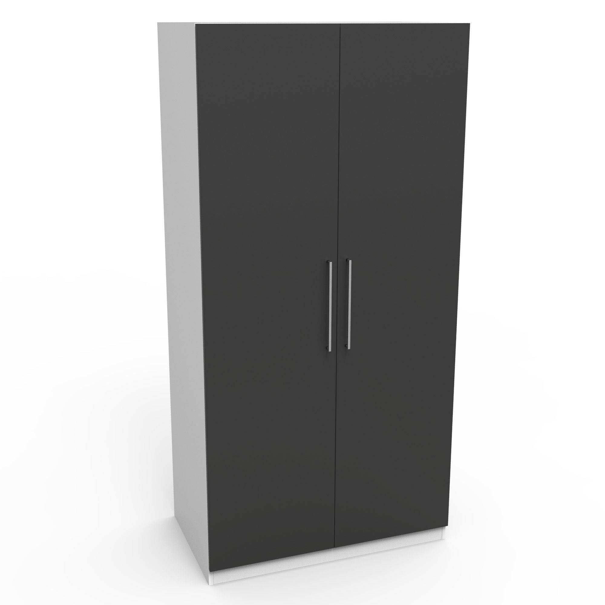 doors and dee wardrobe grey pin stone handles walnut interior with
