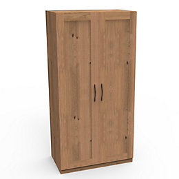 Darwin Oak Effect 2 Door Wardrobe (H)2004mm (W)1000mm
