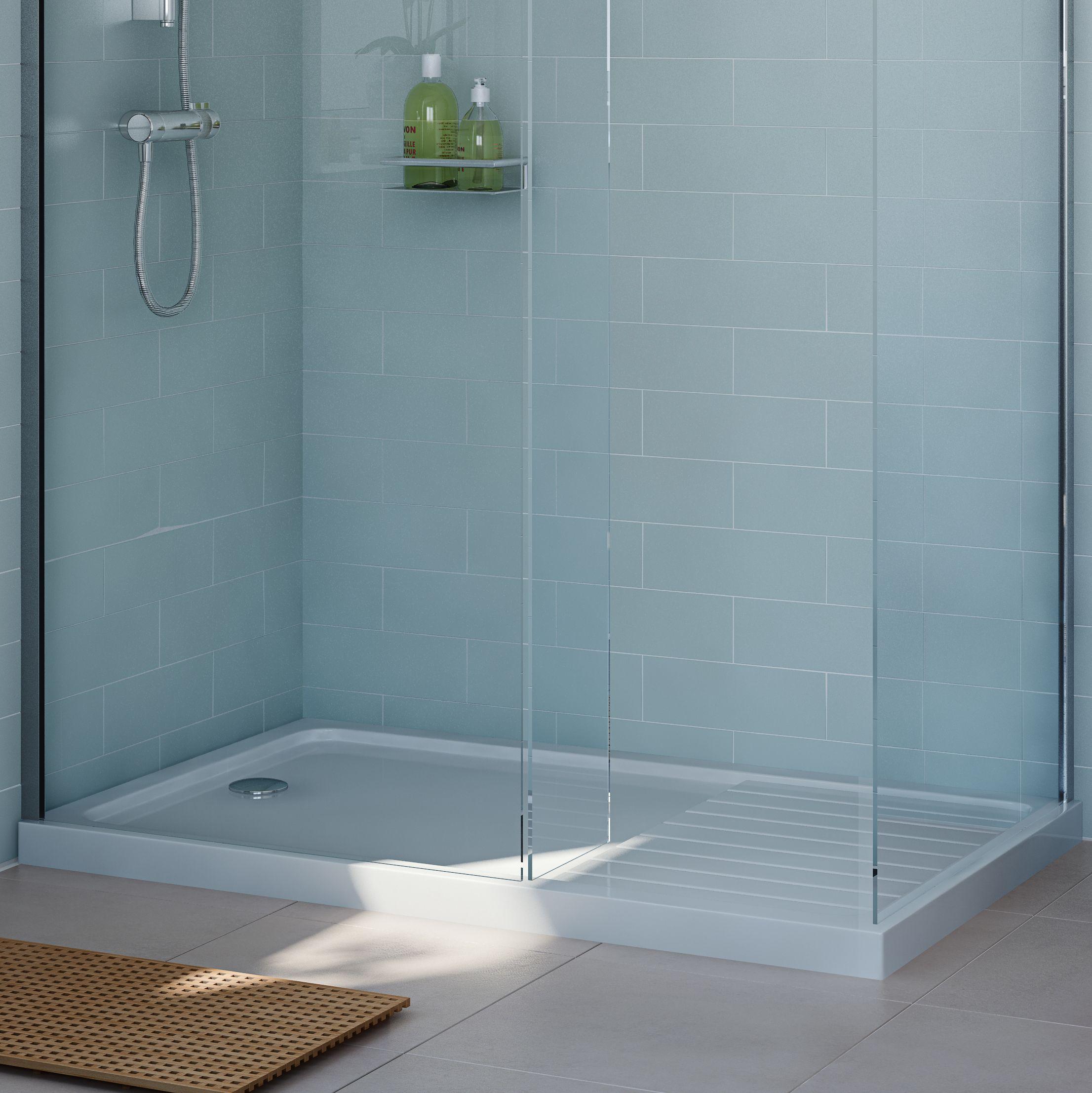 Cooke & Lewis Rectangular Shower tray (L)1300mm (W)800mm (D)40mm ...