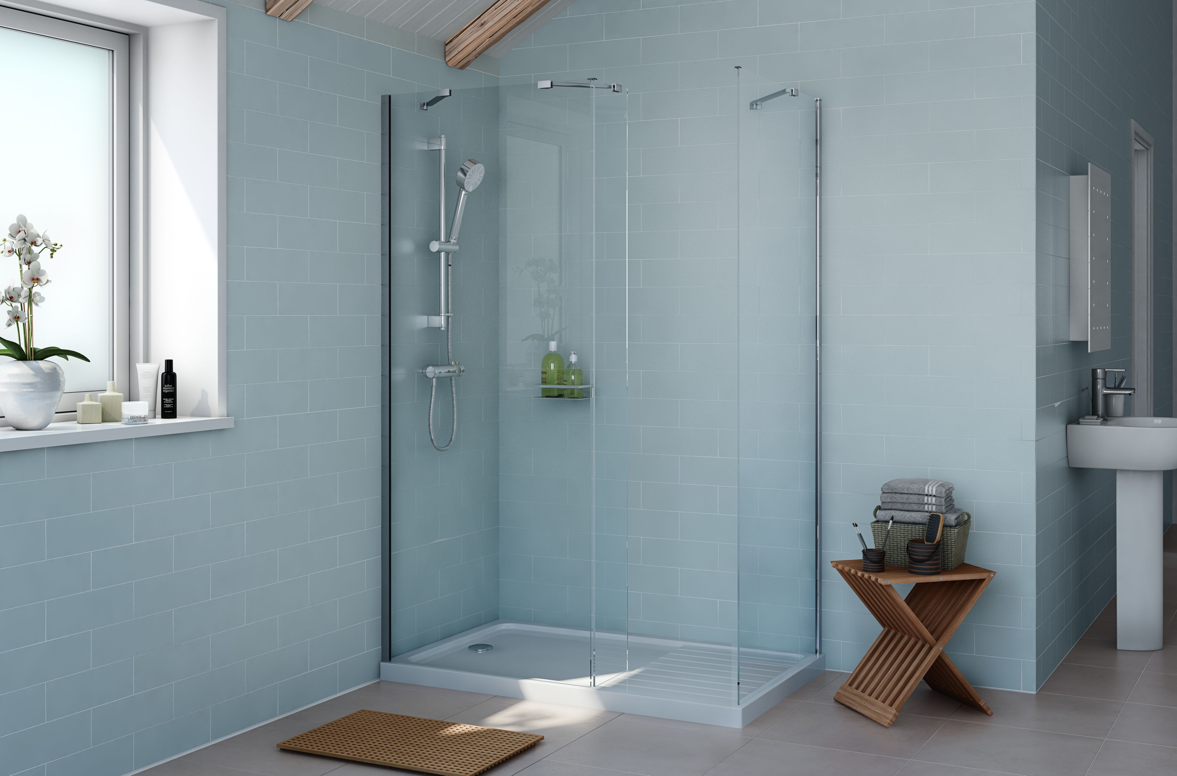 Cooke & Lewis Exuberance Rectangular Shower Enclosure With Walk In