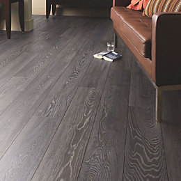 Amadeo Bedrock Oak effect Laminate flooring 2.22 m²