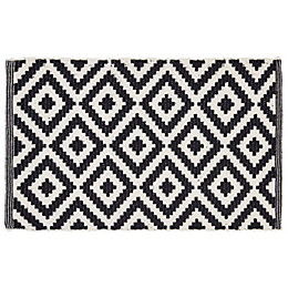 Colours Harrietta Black & White Diamond Cotton Door