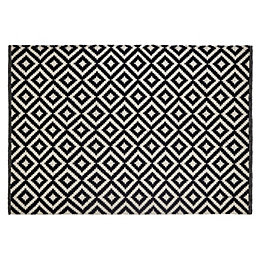 Colours Harrietta Black & White Geometric Rug (L)1.7M