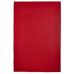 Colours Madisen Red Plain Rug (L)1.7M (W)1.2 M