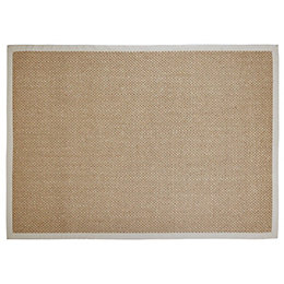 Colours Fabianna Natural Flatweave with border Rug (L)1.7m