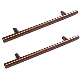 Copper Speckled matt Straight T-Bar handle, Pack of