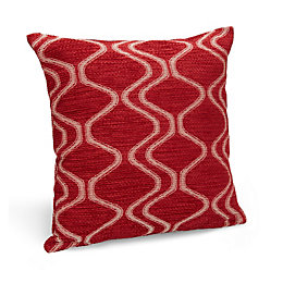Darama Geometric Swirl Red Cushion