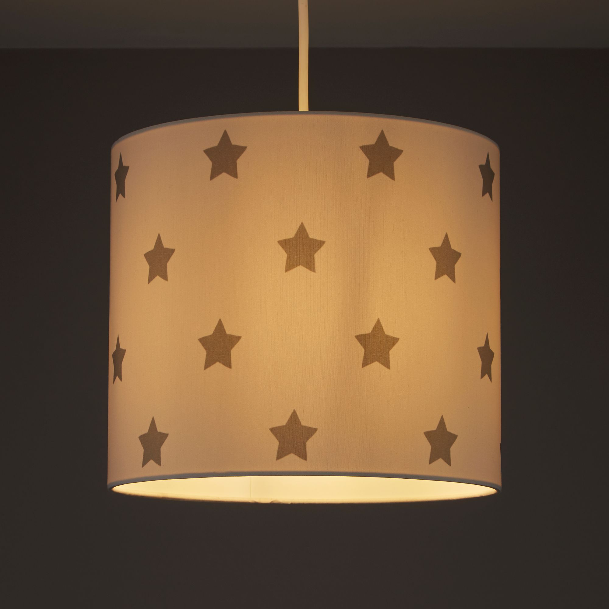 Kids Colours Stars Grey & white Light shade