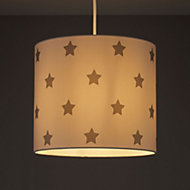 Kids Colours Stars Grey & white Light shade (D)250mm