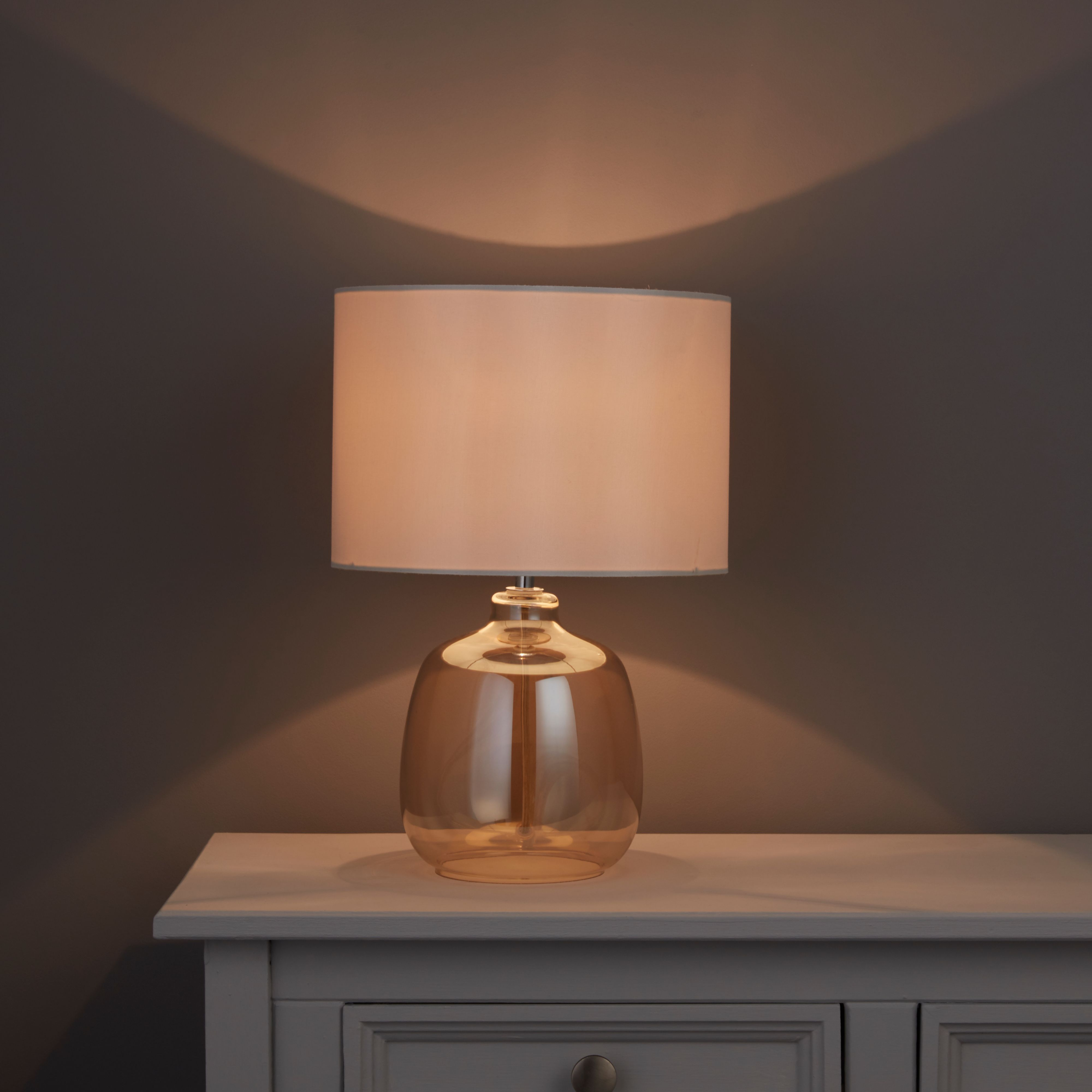 Alphie Champagne Glass Table Lamp Departments Diy At B Amp Q