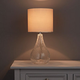 Lucania Crackle Clear Table Lamp