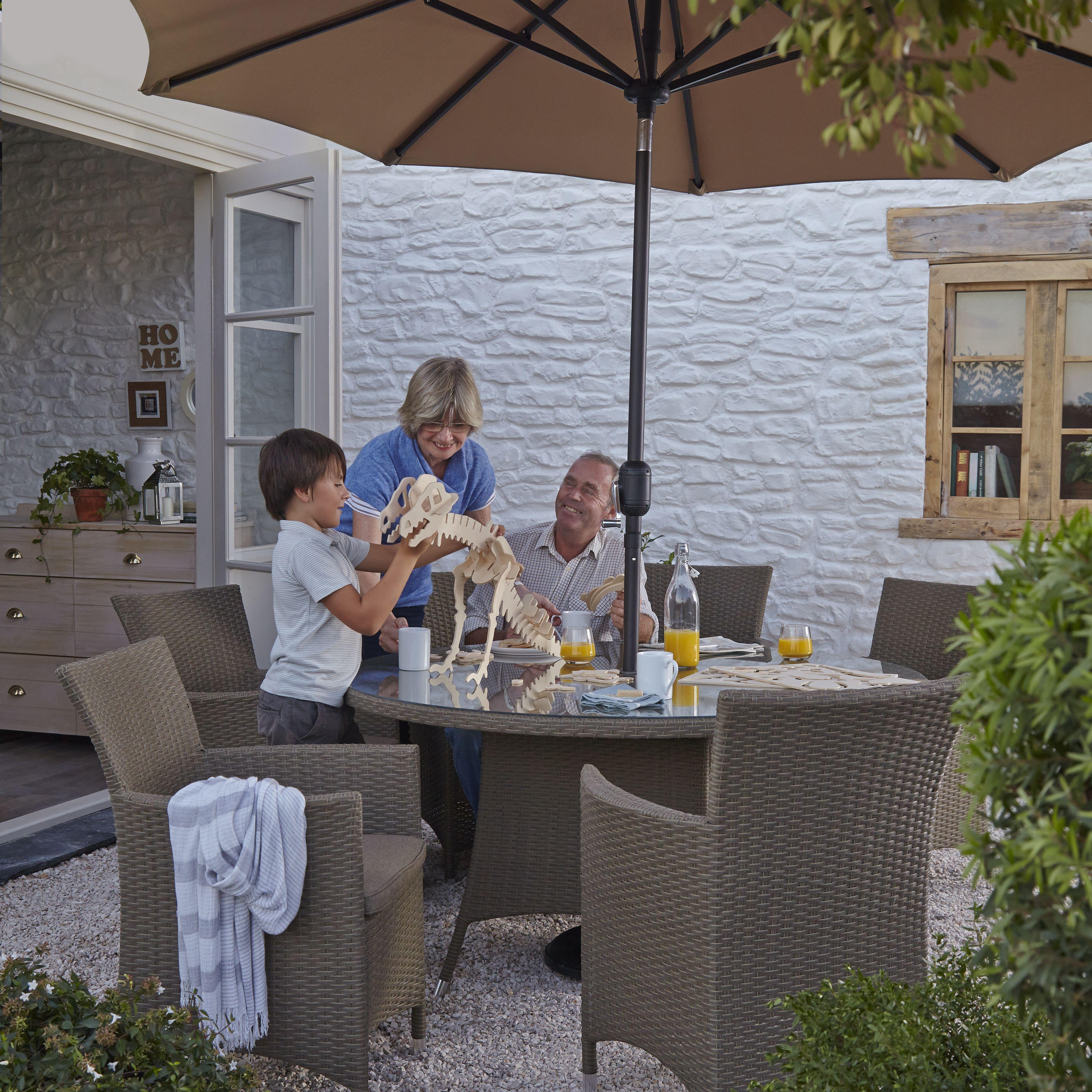 Henley Garden Furniture Henley rattan effect 6 seater dining set departments diy at bq workwithnaturefo