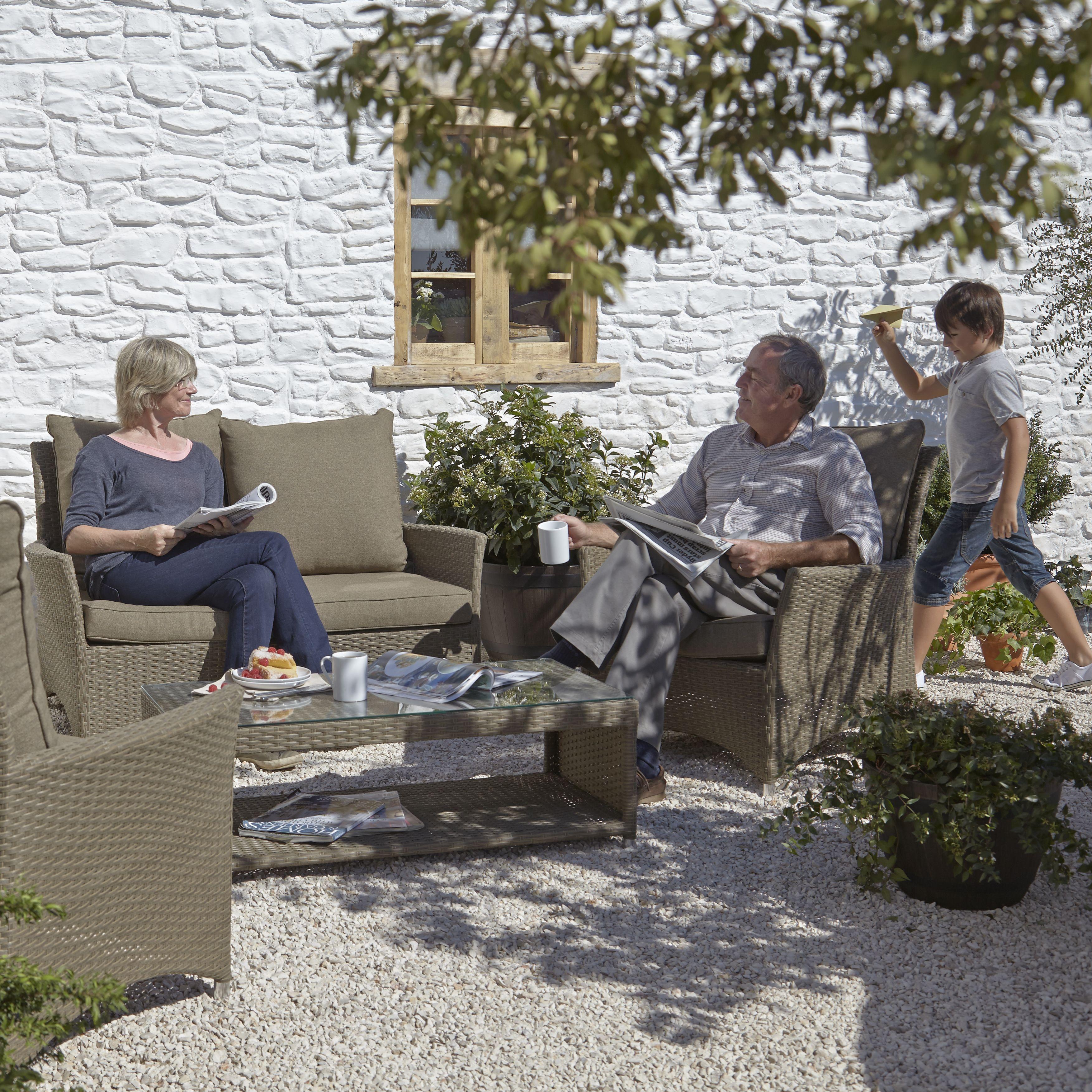 Henley Garden Furniture Henley rattan effect 4 seater coffee set departments diy at bq workwithnaturefo