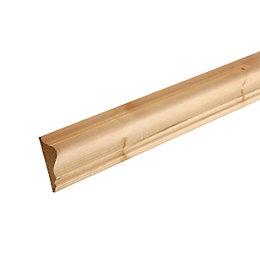 Smooth Dado Dado Rail (T)20mm (W)45mm (L)2400mm Pack,