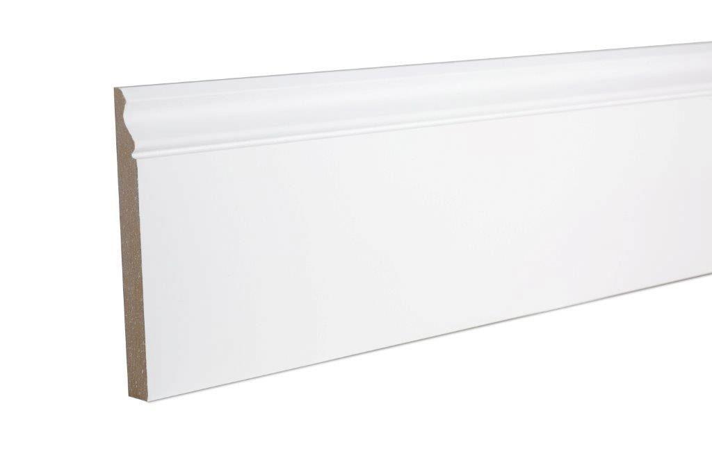 Ogee Skirting (T)18mm (W)169mm (L)2400mm, Pack of 2