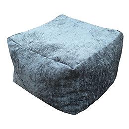 Elite Plain Charcoal Bean Bag Cube