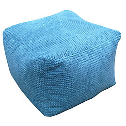 Bubble Plain Teal Bean Bag Cube