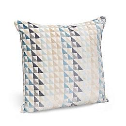 Cleone Geometric Triangles Duck Egg Cushion