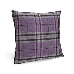 Crisana Tartan Purple Cushion