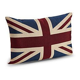Cynara Union Jack Blue, Red & White Cushion