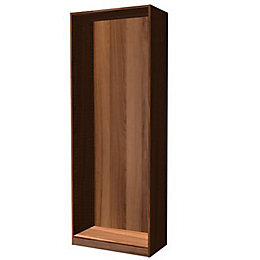 Darwin Modular Walnut Effect Tall Wardrobe Cabinet (H)2356mm