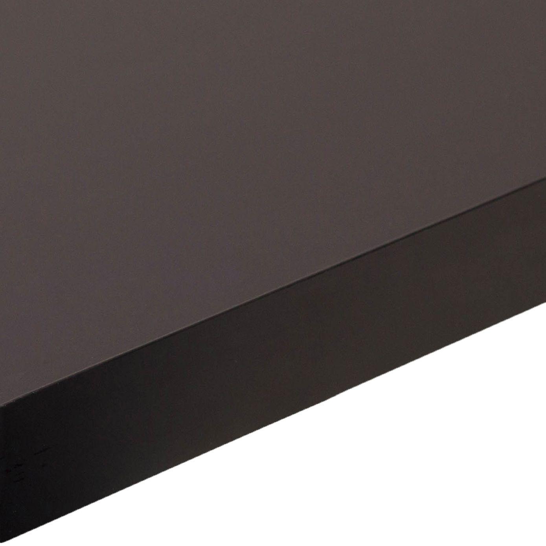 38mm Edurus Laminate Black Matt Square Edge Worktop L