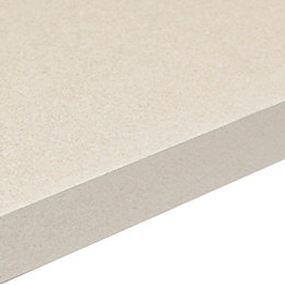 38mm Aura White Gloss Granite effect Square edge