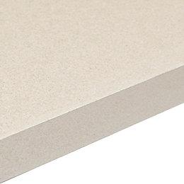 38mm Aura White Laminate Gloss Granite Effect Square