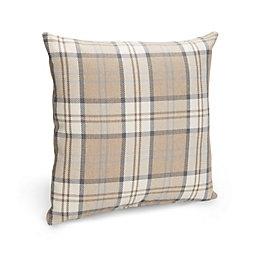 Colbie Tartan Brown Cushion