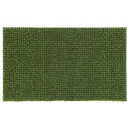 Green Artificial grass Polyethylene Door mat (L)750mm (W)450mm
