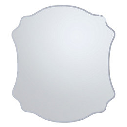 Colours Nerio Plain Mirror Frameless Scalloped Mirror (H)500mm