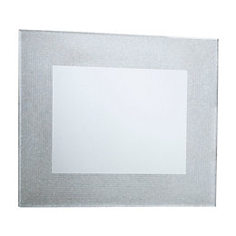 Colours Lucina Glitter Frameless Rectangular Mirror (H)600mm (W)