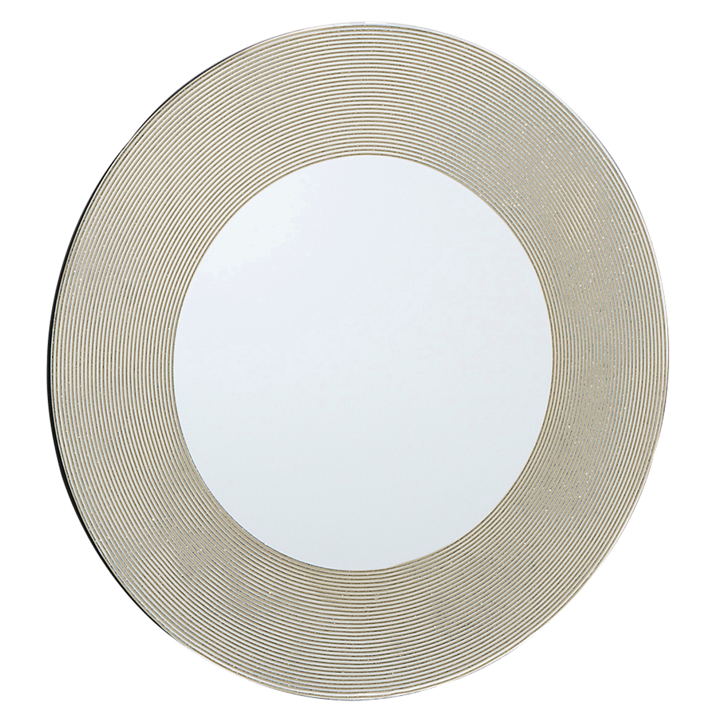 Colours Lucina Gold Glitter Frameless Circular Mirror H