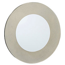 Colours Lucina Gold Glitter Frameless Circular Mirror (H)500mm