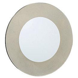 Colours Lucina Gold Glitter Frameless Circular Mirror (H)500mm
