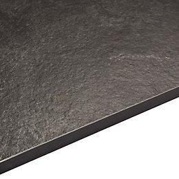 12.5mm Exilis Laminate Zinc Argente Black Stone Effect