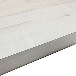 38mm Maple Crème Laminate Wood Effect Square Edge