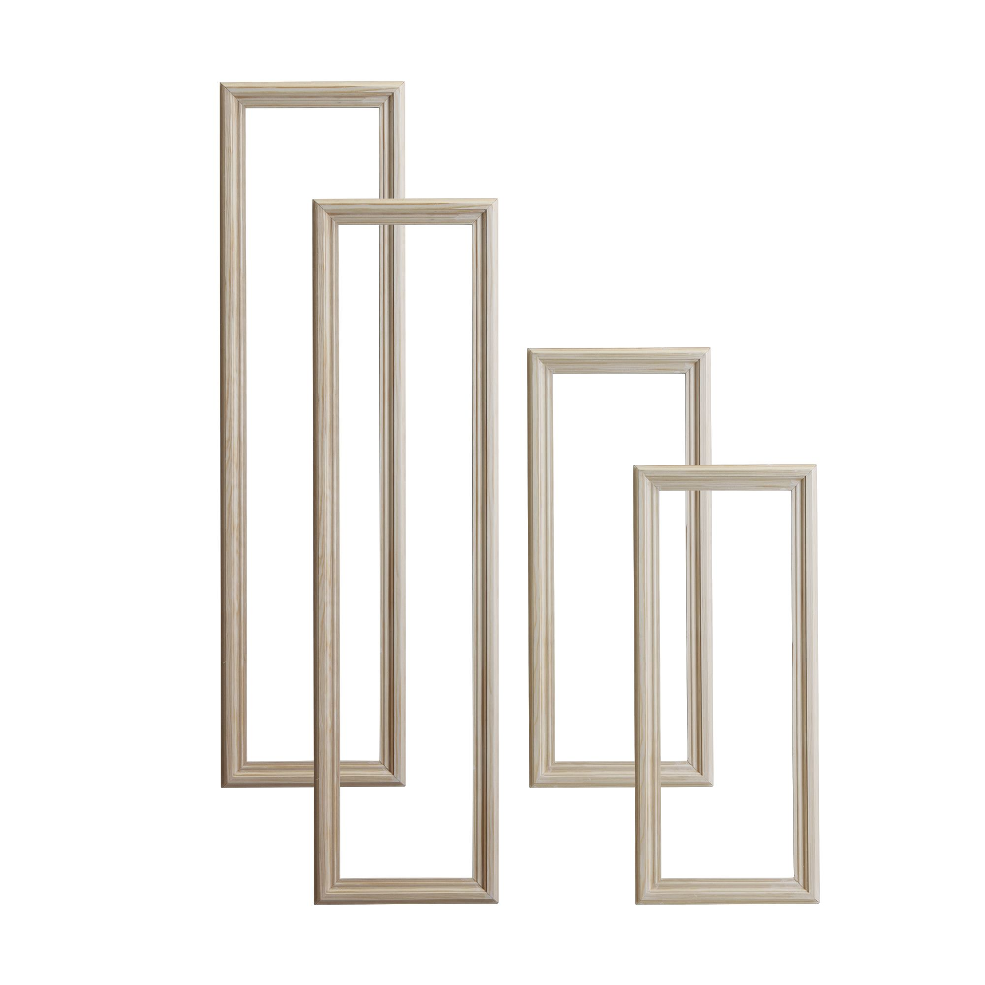Pine 4 Panel Door Moulding Kit Departments DIY At BampQ