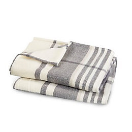 Colours Blue grey Plaid Woven Throw