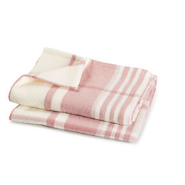 Colours Pink & white Plaid Woven Throw